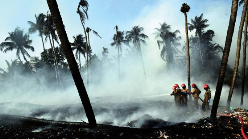 One more Fire breaks out at Brahmapuram waste management plant