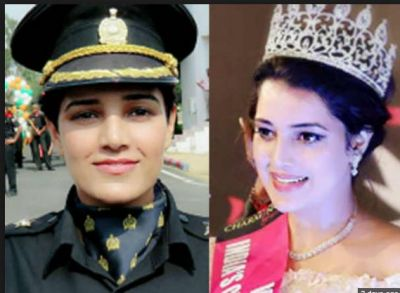 Once had a crown of the beauty queen, now become an officer in the army