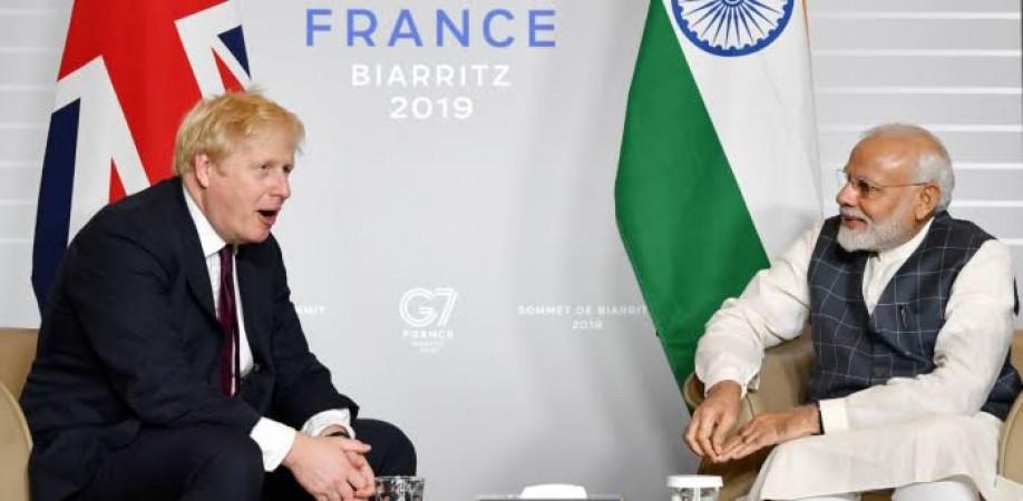 प्रधानमंत्री मोदी मंगलवार को ब्रिटेन के प्रधानमंत्री के साथ करेंगे वर्चुअल मीटिंग