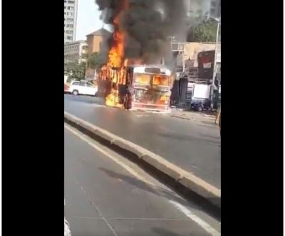BEST bus in Mumbai Catch fire, onboard passengers had a narrow escape