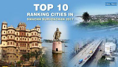 Top 10 cities in  Swachh Bharat Abhiyan survey rankings