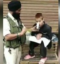 Viral Video: A soldier who survived Pulwama Terror shares lunch With Boy
