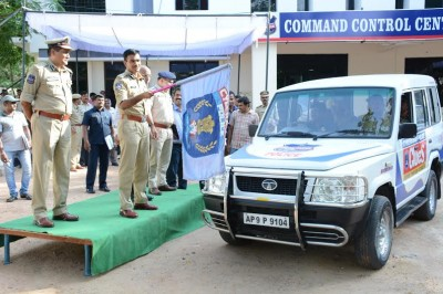 Society for Cyberabad Security Council headed 30 trucks to supply medical materials