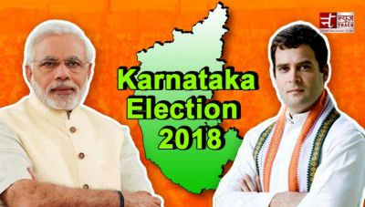 K'taka  election results live :EC trends shows BJP leading on 106 seats, Congress 76