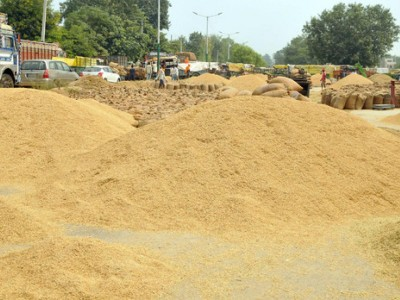 Telangana State Government has purchased 34.94 lakh tonnes  paddy from farmers