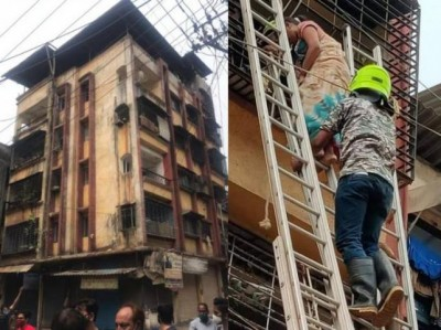 Maharashtra: Building in Ulhasnagar collapsed 5 dead, several stuck under rubble