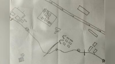 Map recovered which reveals a major plot to target IAF air bases in Srinagar, Awantipora