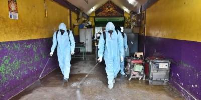 GHMC conduct massive drive of sanitization of Covid treatment Hospitals