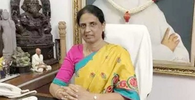 Education Minister Sabita Indra Reddy launched cash deposit for school staff personnel