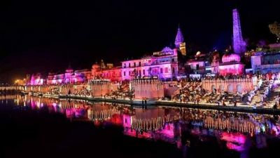 Diwali New World Record to set  in Ayodhya today with light of 3.35 lakh lamps