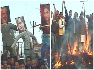 Padmavati Protest: Kshatriya Mahasabha burns dummies of Deepika and Bhansali
