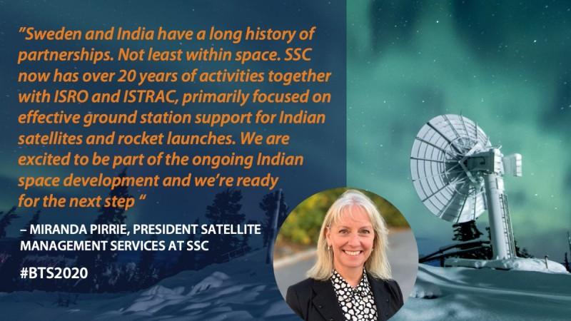 इसरो से साझेदारी करेगी स्वीडन की अंतरिक्ष एजेंसी