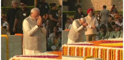 PM Modi, Rahul Gandhi, Sonia Gandhi pay tribute to Mahatma Gandhi on his 150th birth anniversary