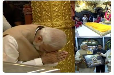 PM Modi offers prayers at Shri Saibaba Samadhi Temple Complex in Shirdi