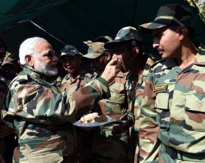 Prime Minister Narendra Modi addressed On Diwali To  Army at Line of Control (LoC)