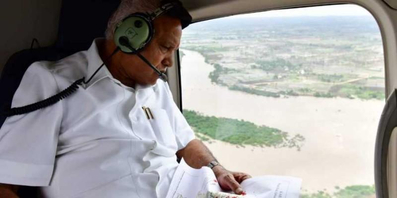 कर्नाटक के सीएम येदियुरप्पा ने किया बाढ़ प्रभावित क्षेत्रों का हवाई सर्वेक्षण