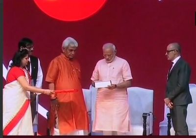 Prime Minister Narendra Modi launces India Post Payments Bank services
