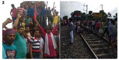 Bharat bandh live updates: Protesters set fire to tyres, stop train in Bihar