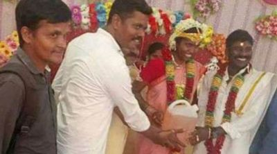 Tamil Nadu : Man receives 5-litre petrol can as a wedding gift from friends