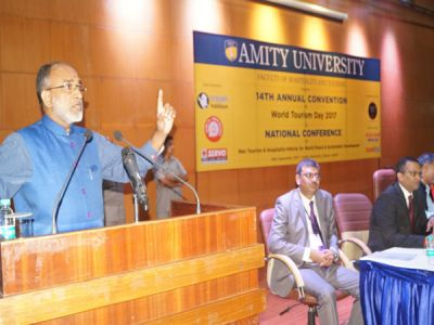 K.J, Alphons says, to boost tourism at Amity University