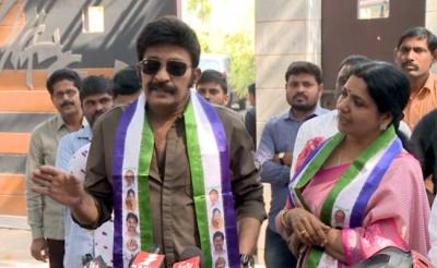 YSRCP chief Jagan Reddy welcomed Jeevitha Rajasekhar and Hema in party