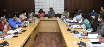 KTR ask officials to use maximum resources to complete Nala desilting and widening work to soon