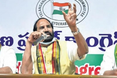 Telangana Congress party leader Uttam Kumar demanded TRS to disqualify four MLAs