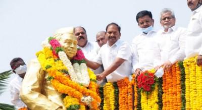 Social Welfare Minister Koppula Eshwar compared Government work with Mahatma Phule