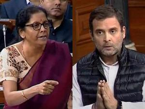 Defence Minister Nirmala Sitharaman targeted to Rahul Gandhi's comment on Rafale deal..