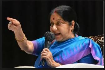 Draupadi of Rampur is being disrobed in front of you: Sushma Swaraj