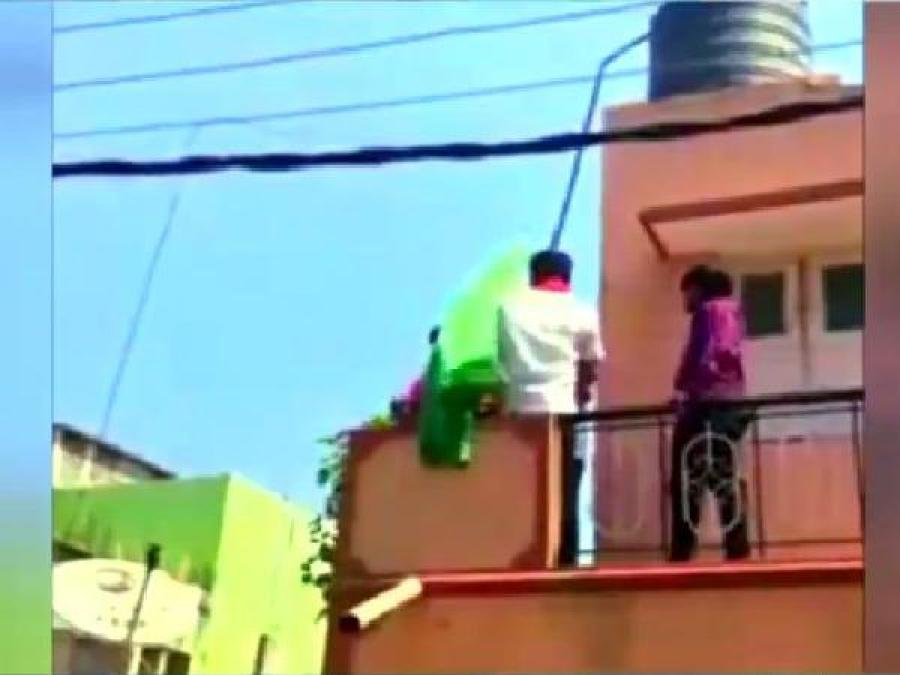 'BJP workers' ask woman to remove Islamic flag and force to chant 'Bharat Mata ki Jai'