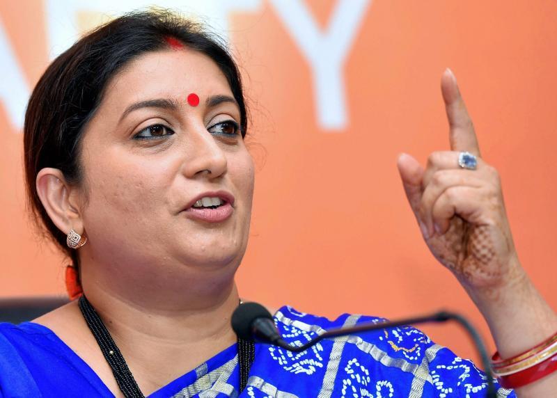 Any Gandhi family member can't defeat PM Modi in Varanasi: Smriti Irani