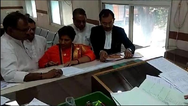 Sadhvi Pragya filed her nomination today; detail will be filling tomorrow