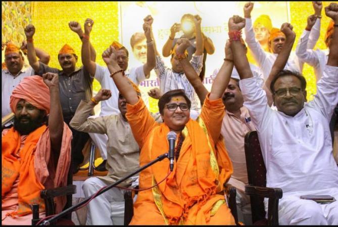 BJP chiefs spirited defend to Sadhvi Pragya's contesting poll