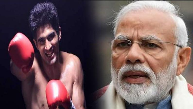 Just after fielded from Congress, boxer Vijendra Singh throws his punches on PM Modi