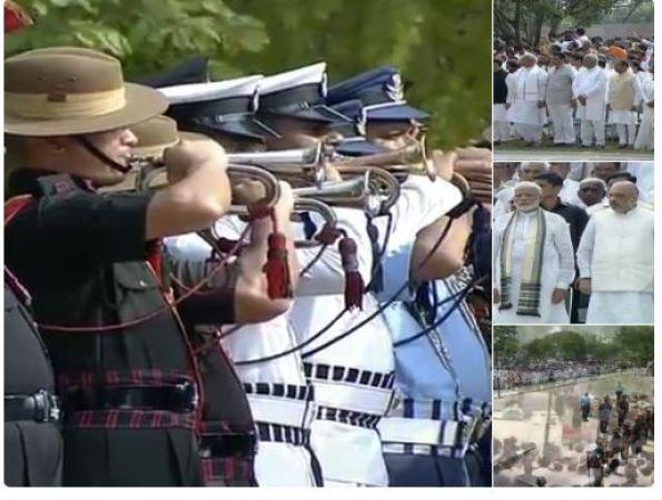Atal Bihari Vajpayee funeral Live updates: Last salute accorded to former PM and Bharta Ratna Vajpayee ji
