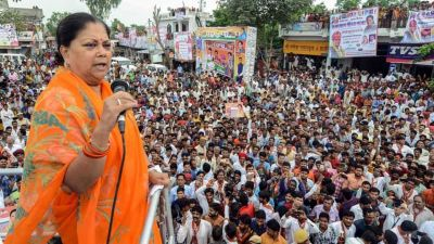 Rajasthan: Stones thrown at Vasundhara Raje's Gaurav Rath Yatra