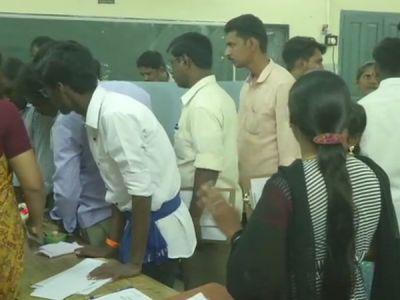 Voting has begun in RK Nagar constituency