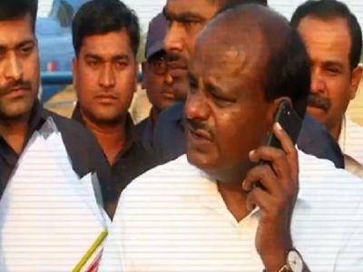 Watch -Karnataka CM HD Kumaraswamy  caught on camera instructing  'shoot mercilessly' orders