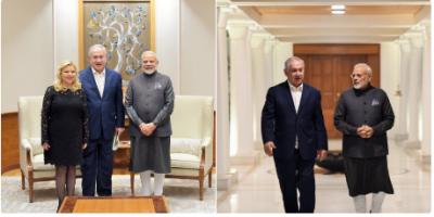 PM Modi hosts private dinner for Israeli Prime Minister Benjamin Netanyahu