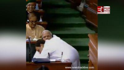 Rahul brings Earthquake:  Watch Congress-BJP hugs and shake hands