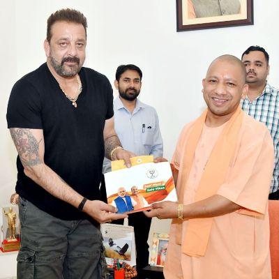 Sampark for Samarthan:UP CM Yogi Adityanath meets actor Sanjay Dutt