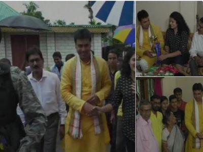 Sampark for Samarthan: Tripura CM meets  Nishtha Chakraborty