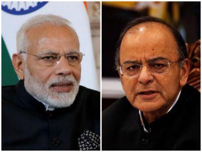 PM Modi backs Jaitley as he compares Indira Gandhi to Hitler