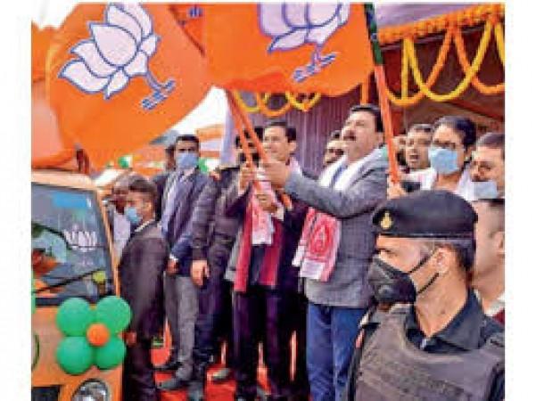 सीट बंटवारे के फॉर्मूले में 92 सीटों पर चुनाव लड़ेगी भाजपा