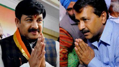 CM Arvind Kejriwal calls Bjp leader Manoj Tiwari as