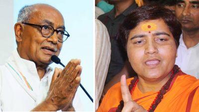 Election Commission issues notice to Digvijaya Singh, Sadhvi Pragya Thakur