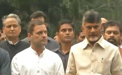 Chandrababu Naidu Meets Rahul Gandhi to meet Mamata