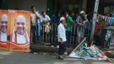 Ahead of Amit Shah's roadshow, PM Modi and Party President's posters removed in Kolkata
