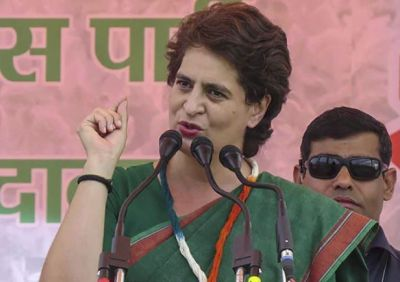 Priyanka Gandhi takes a dig at PM Modi over 'cloudy cover' remark